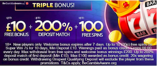 signup and welcome bonus offers for new players