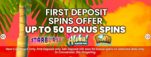 signup bonus casino offer